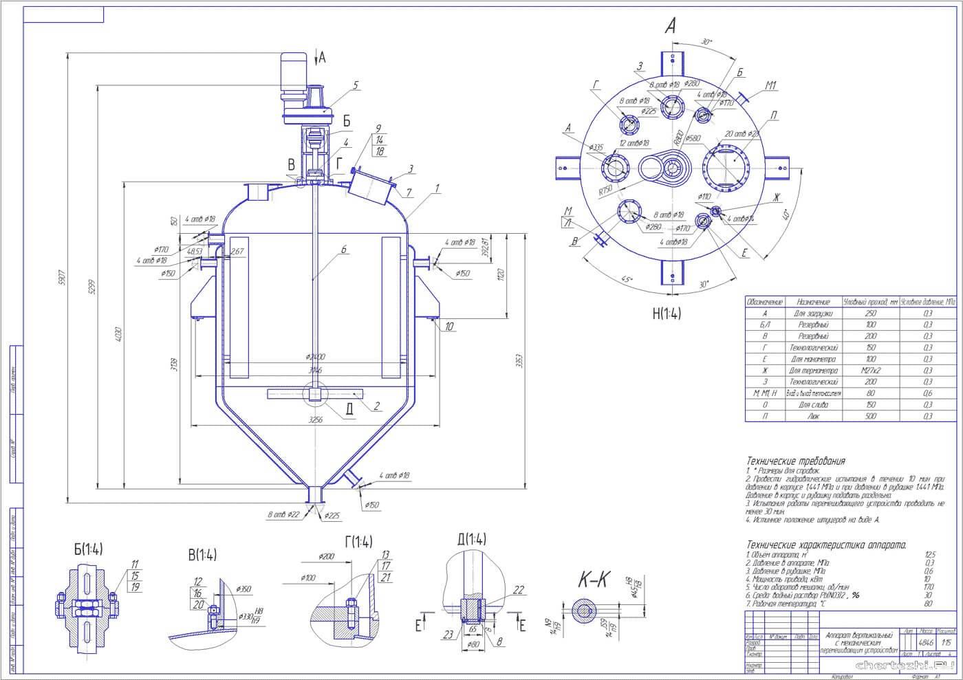 rezervuary i emkosti s meshalkami reaktory 1 Тихоходные мешалки