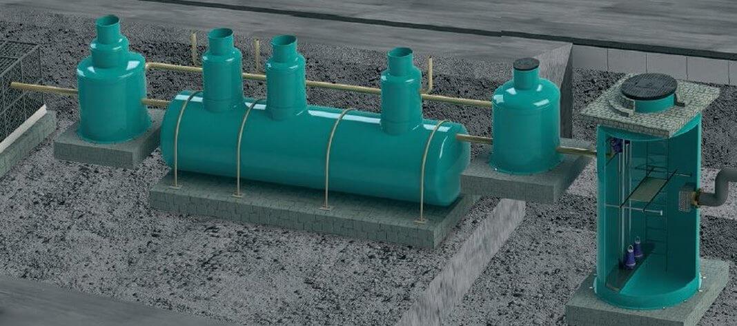 Биологическая очистка хозяйственно бытовых сточных вод 4 Станции подземного размещения ёмкостного типа