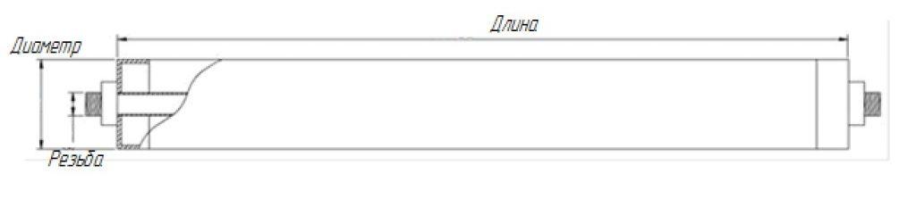 chertezh trubchatogo ajeratora 1024x223 Аэраторы трубчатые