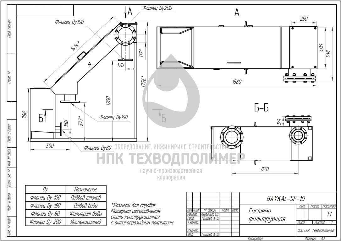 baykal sf 10 Системы фильтрационные (СФ)